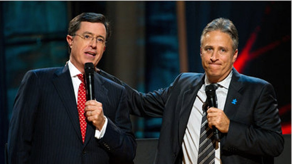 Stewart and Colbert changing their tone?