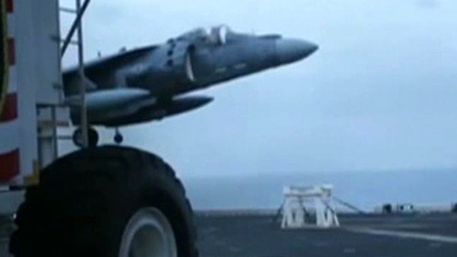 Watch Marine pilot land his crippled jet on a stool