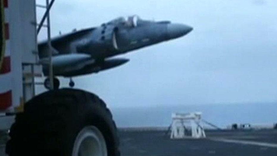 Watch Marine pilot land his crippled jet on a stool