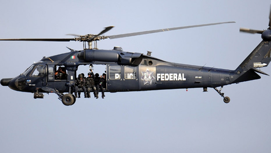 Mexican military chopper fires at border patrol agents