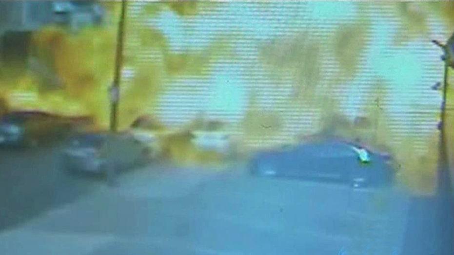 Food truck 'fireball': Camera captures enormous explosion
