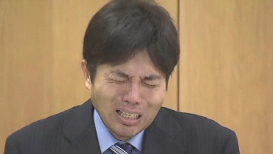 Japanese politician has total meltdown