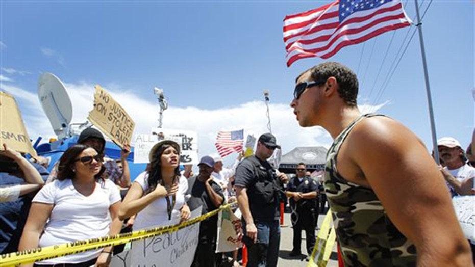 Protesting the border chaos