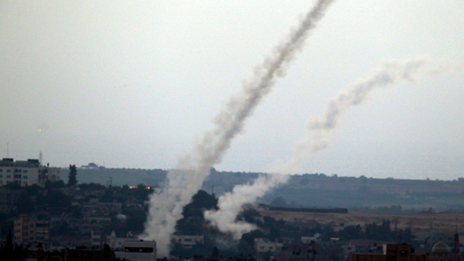 Officials: Israel intercepted over 100 rockets from Gaza