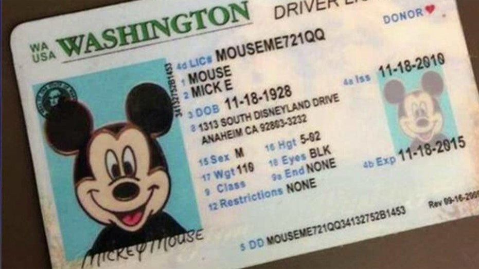 Mickey Mouse driver's license found in Washington state