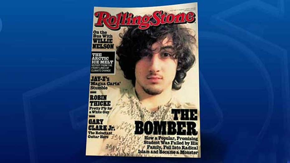 Boston bombing suspect on cover of Rolling Stone