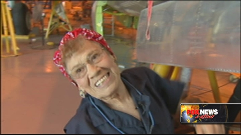 Real life 'Rosie the Riveter' is proud Mexican-American