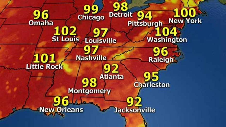 National forecast for Thursday, July 18