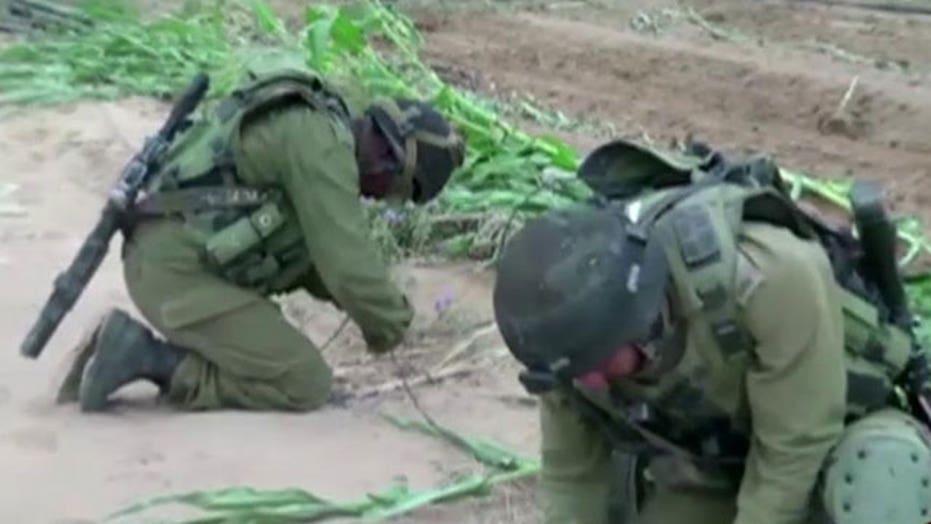 Israel destroys underground terror tunnels from Gaza