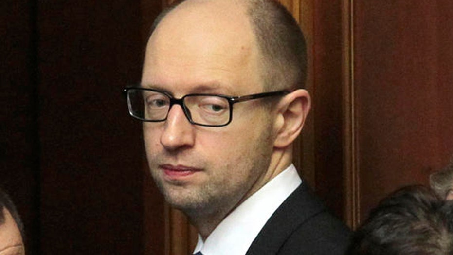 Ukranian Prime Minister Arseniy Yatsenyuk resigns