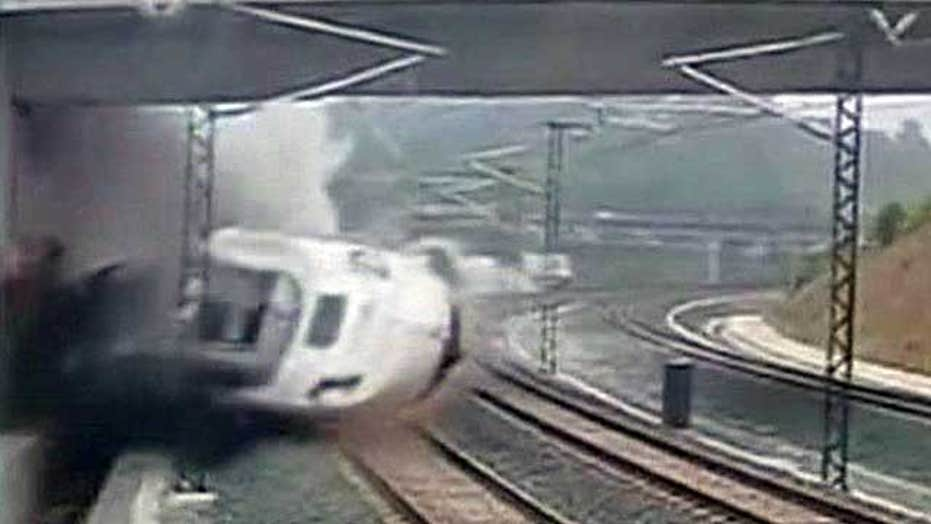Deadly train crash caught by security cameras