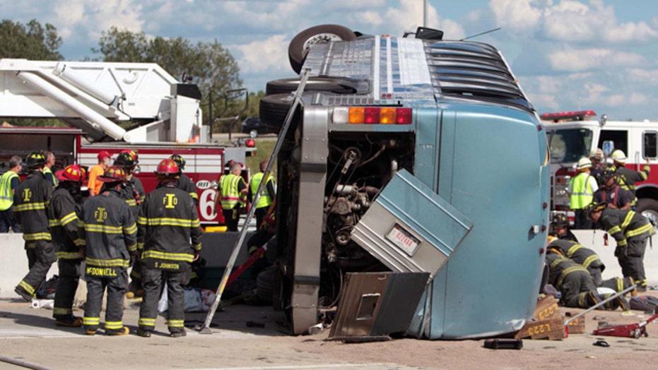 Indiana bus crash kills 3, including pastor, pregnant wife