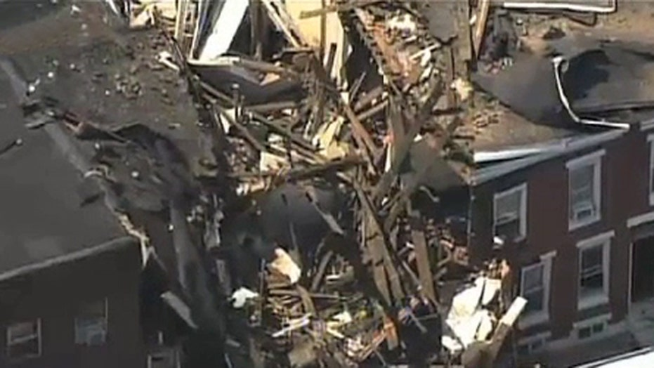 Explosion reported before Philadelphia building collapse