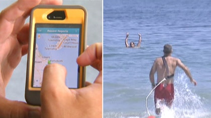 Smartphone app uses data entered by lifeguards