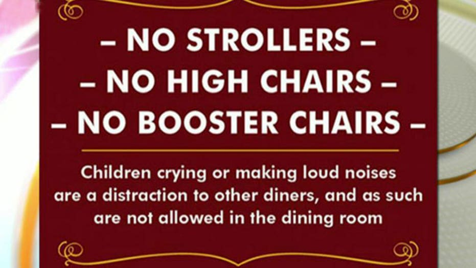 California restaurant says 'no' to noisy kids