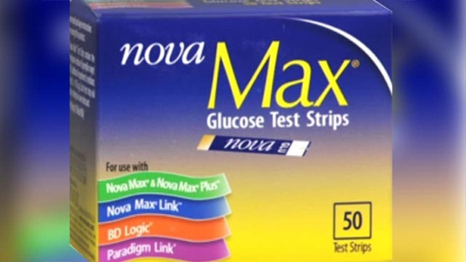 Diabetes test strip maker recalls 62 million products