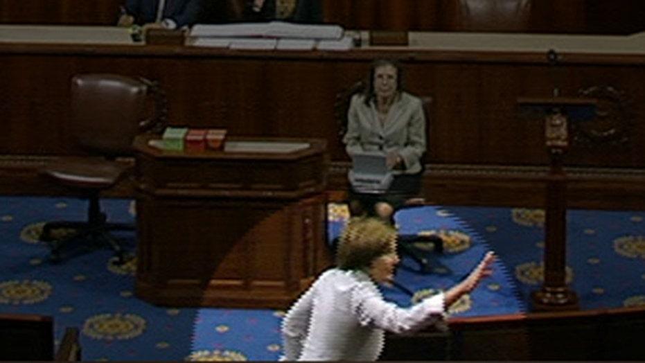 Nancy Pelosi loses her cool