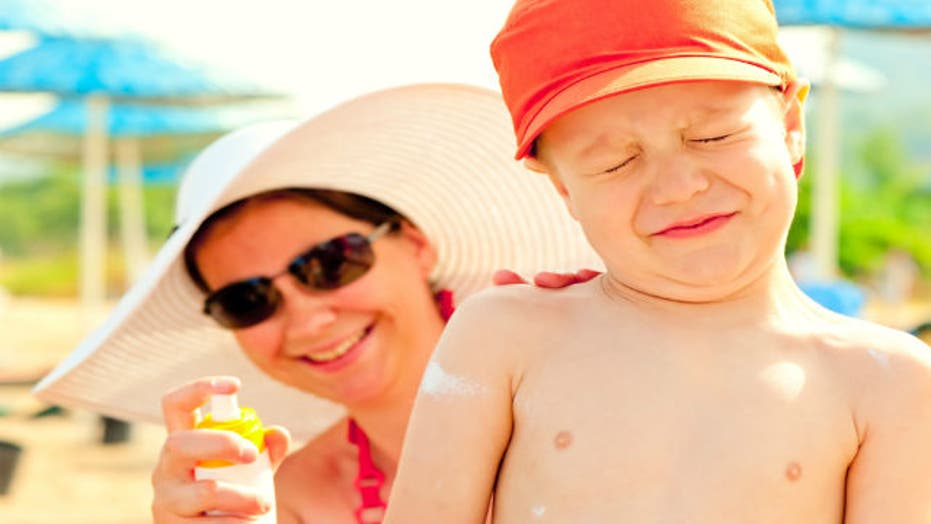 Are spray sunscreens unsafe for children?