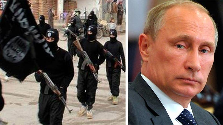 What message does US response in Iraq send to Russia, world?