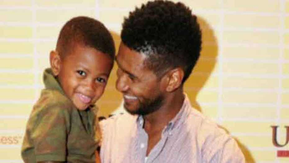 Usher's son gets caught in pool drain