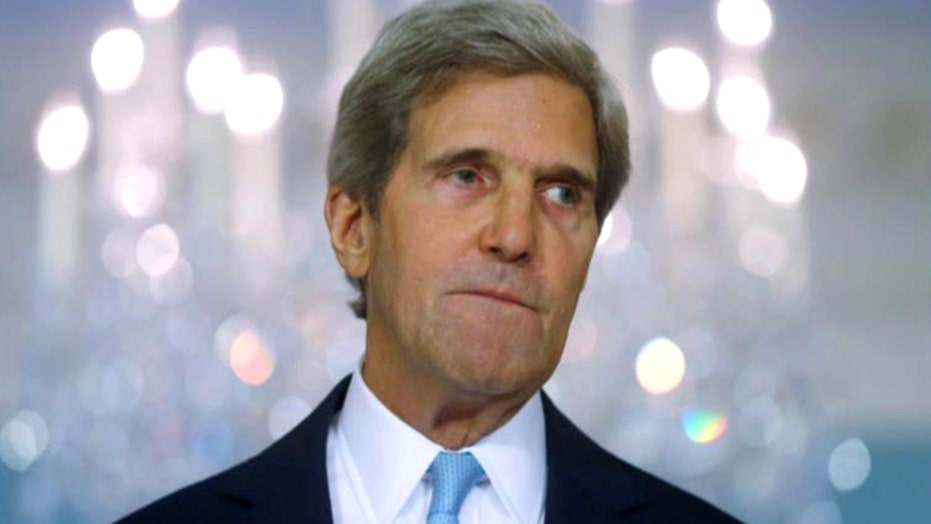 Kerry arrives in Afghanistan; militants target dam in Iraq