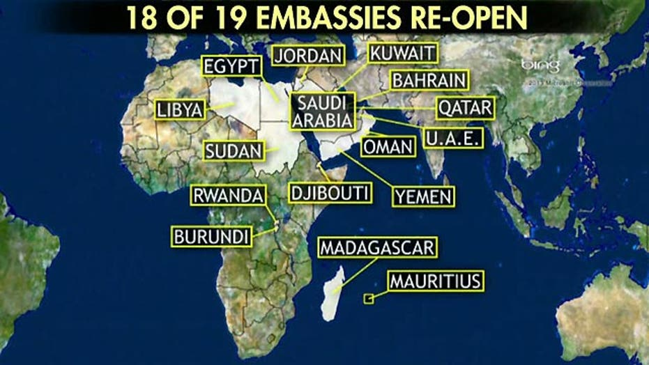 U.S. diplomatic facilities to re-open