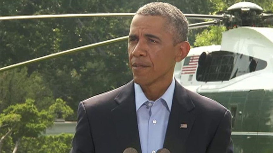 President Obama updates the nation on the situation in Iraq