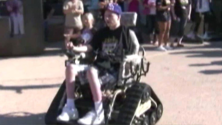 Wounded war vet gets high-tech wheelchair to boost mobility