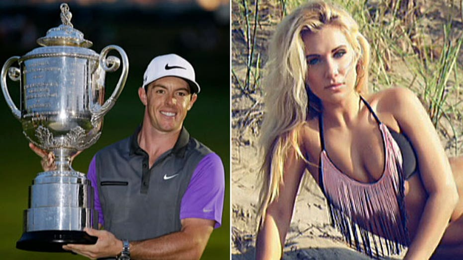 Model is Internet famous for trying to catch McIlroy's eye