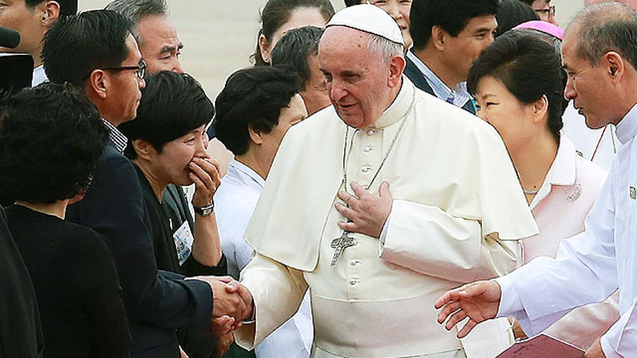Pope calls for reconciliation from North and South Korea