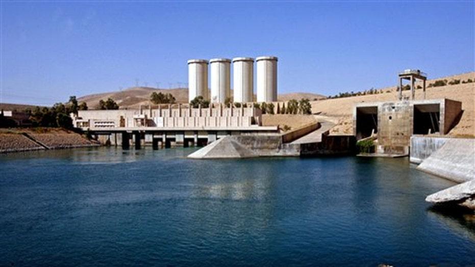 U.S. airstrikes target ISIS at Mosul dam