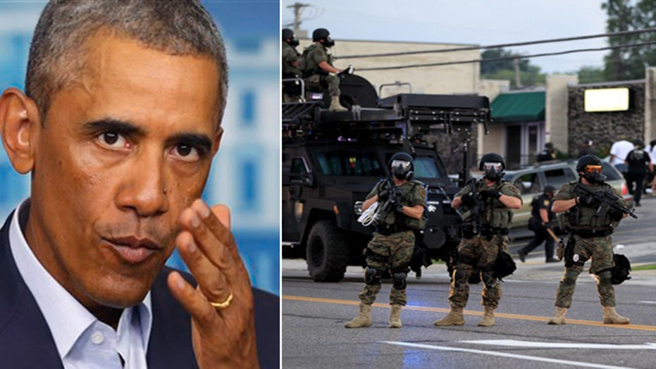 President Obama orders a review of militarized police
