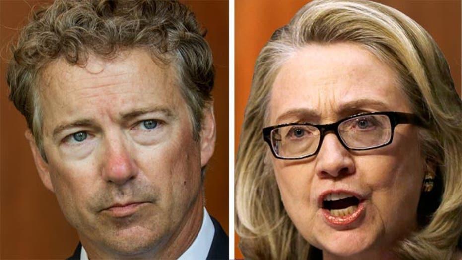 Rand Paul takes aim at 'war hawk' Hillary Clinton