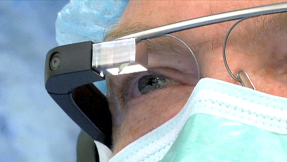 Surgery performed while wearing Google glass
