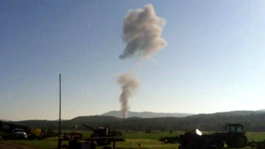 Military jet crashes in Western Virginia