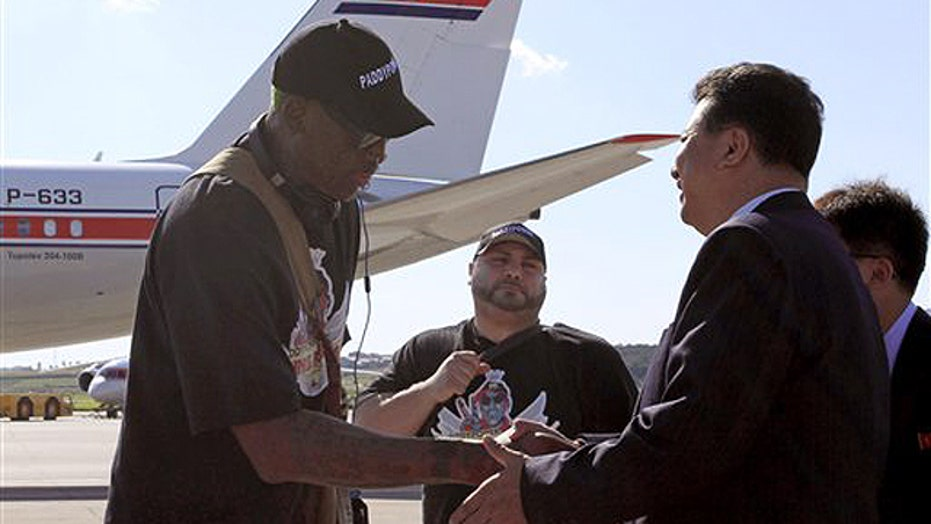 Dennis Rodman returns to North Korea
