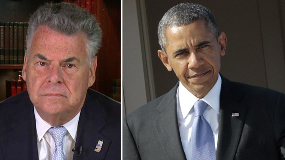 Rep. King critical of Obama's 'schizophrenic leadership'