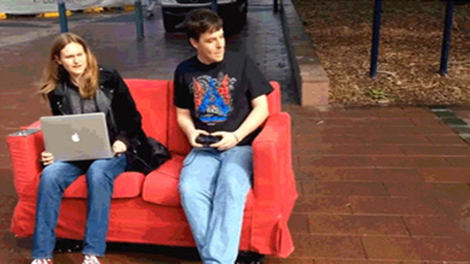 Cruising to class on a couch?
