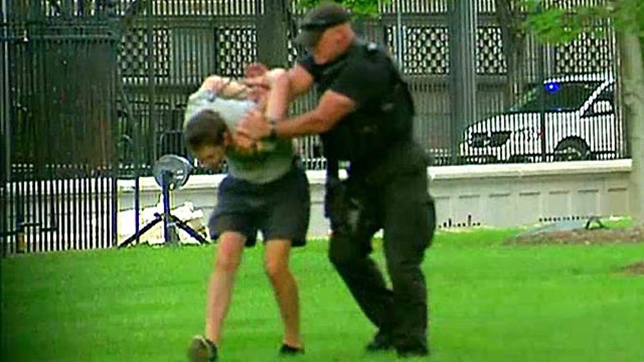 Man apprehended for possible attempt to jump WH fence