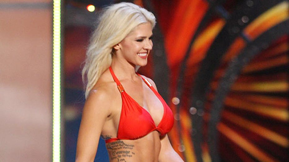 Miss Kansas shows off ink at Miss America Pageant