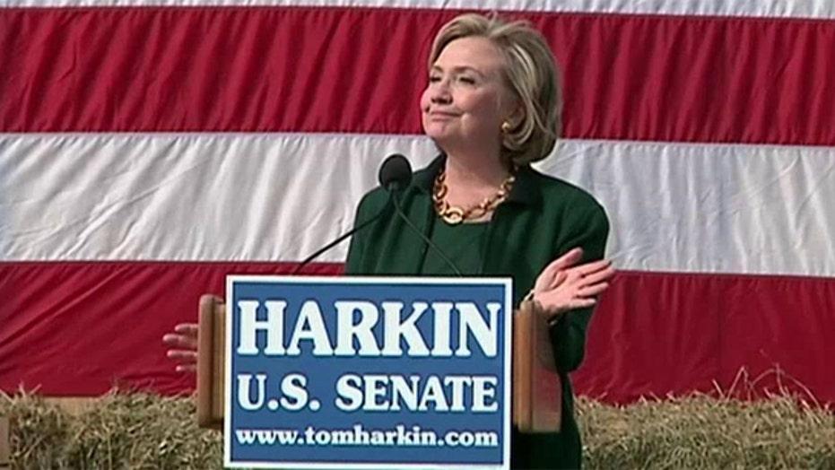 Hillary Clinton returns to Iowa for Democratic fundraiser