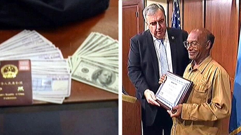 Honest homeless man returns money