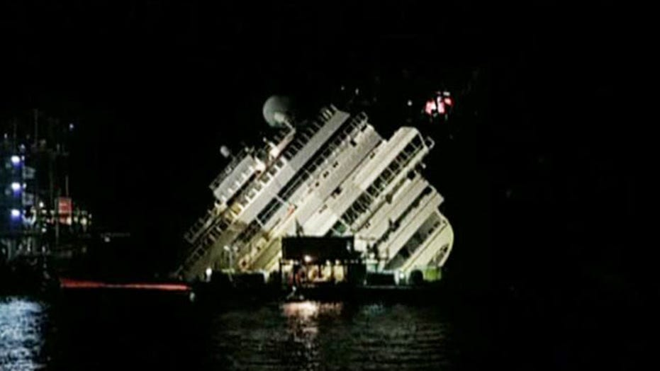 Engineers right Costa Concordia during 19-hour operation
