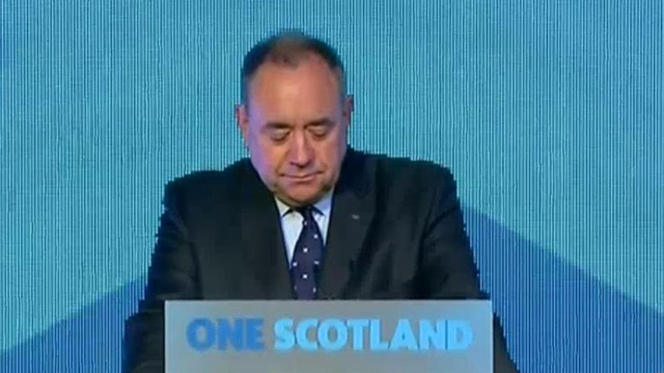First Minister of Scotland Alex Salmond concedes defeat