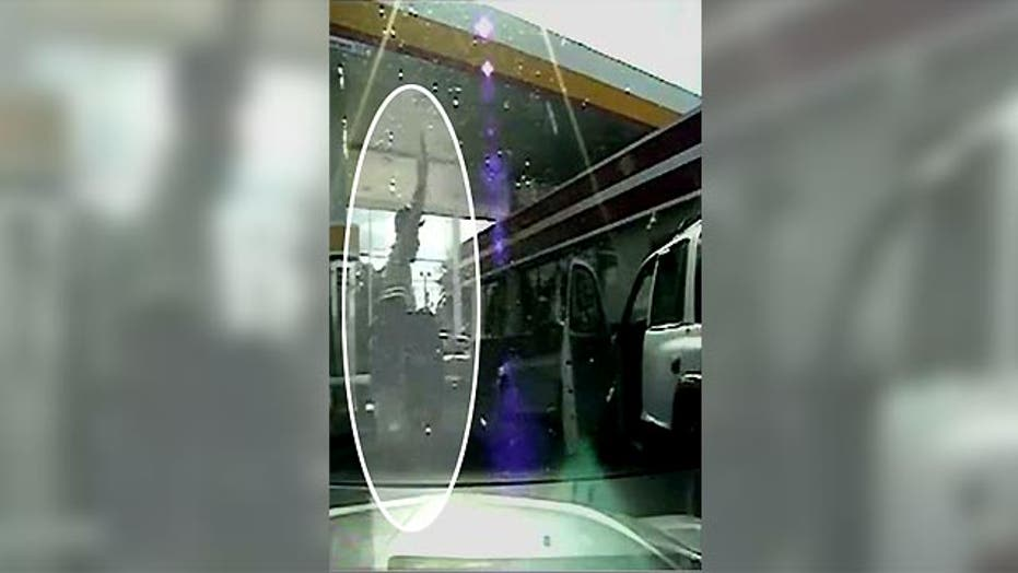 Raw video: Dashcam captures nearly fatal traffic stop