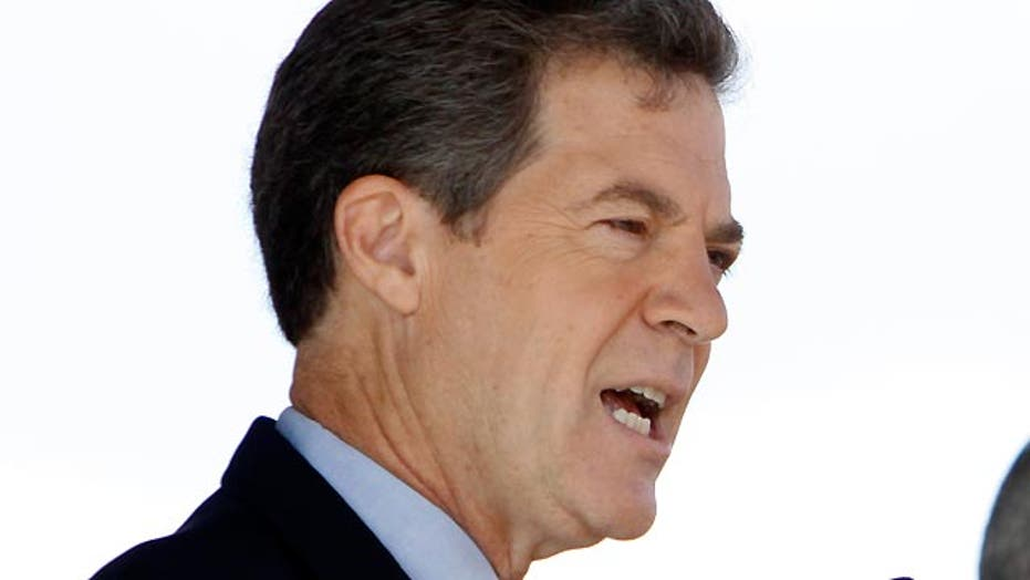 GOP governor in trouble in conservative Kansas