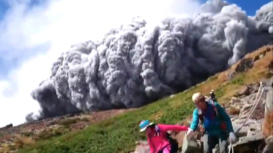 Deadly wall of ash races down Mount Ontake toward hikers