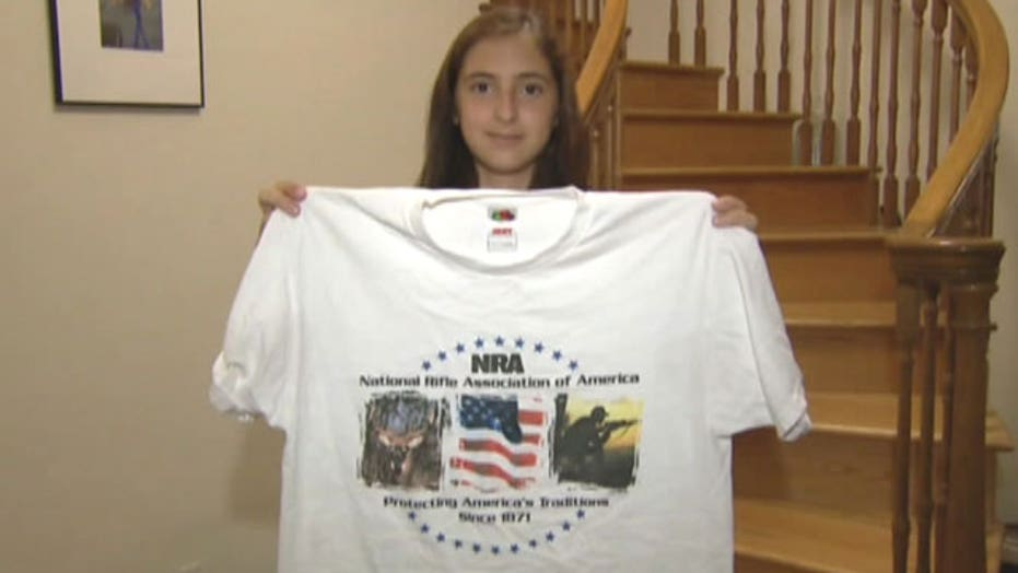 NRA shirt gets student in trouble