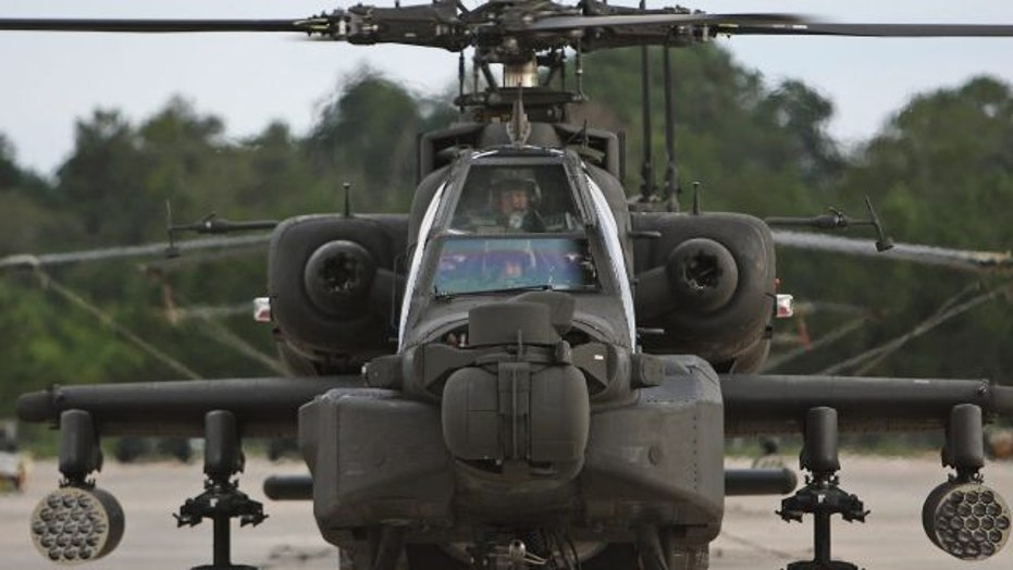 US Apache attack helicopters join fight against ISIS
