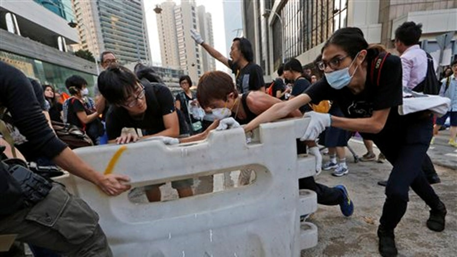 China blaming US for Hong Kong protests
